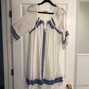 Gibson Latimer blue and white boho dress